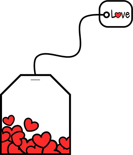 Tea bag with heart clipart clipart download Amazon.com: Cute Heart Teabag Love Valentines Day Cartoon ... clipart download