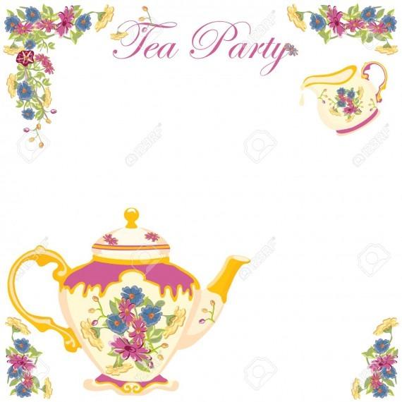Tea border clipart vector transparent Tea Borders Free Clipart – Best Party Custom vector transparent