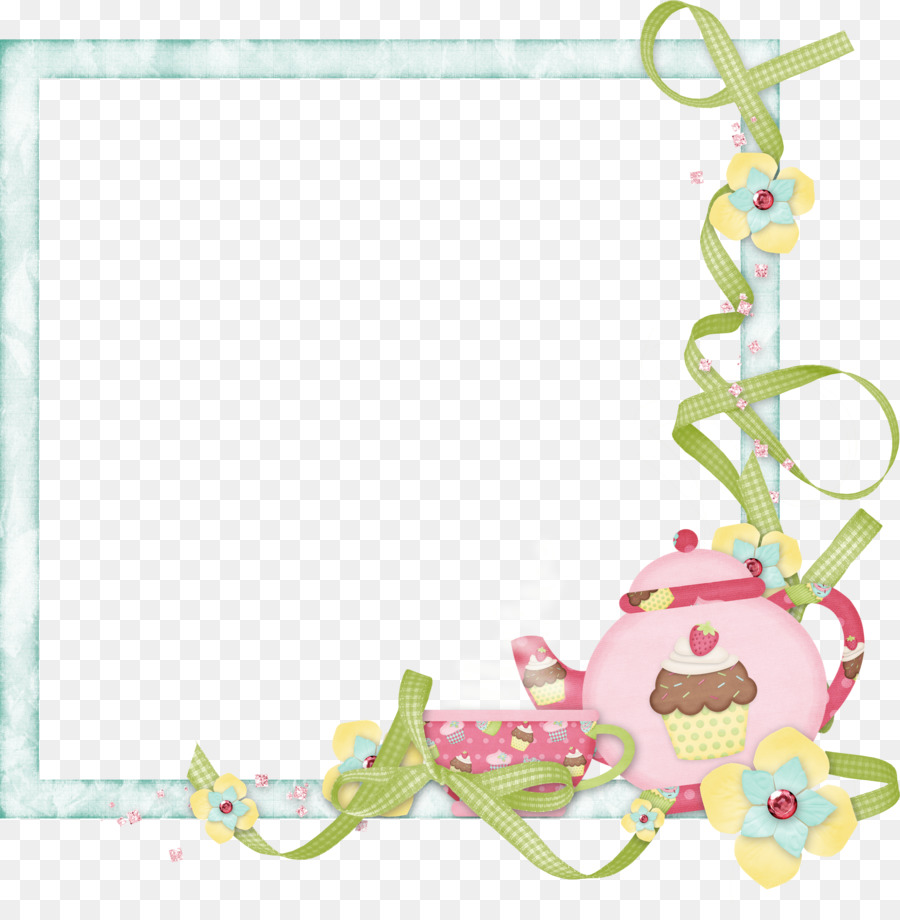 Tea border clipart clipart free library Pink Background Frame clipart - Tea, Pink, Product ... clipart free library