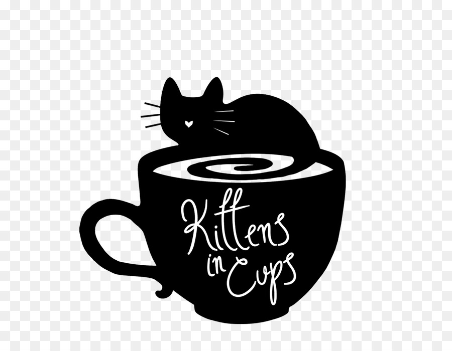 Tea cup cat clipart
