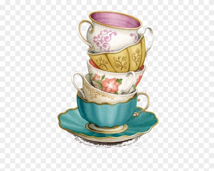 Tea cup clipart transparent background png free download Techno, Watercolour Illustration, Tea Illustration, - Tea ... png free download
