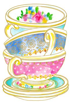 Vintage tea cup clipart banner library library Teacups Clipart | Free download best Teacups Clipart on ... banner library library