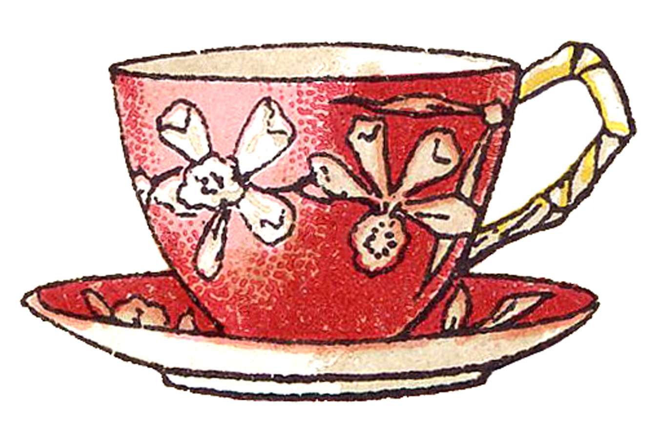 Vintage teacup clipart graphic freeuse 22 Pretty Teacups - Roses and more! - The Graphics Fairy graphic freeuse