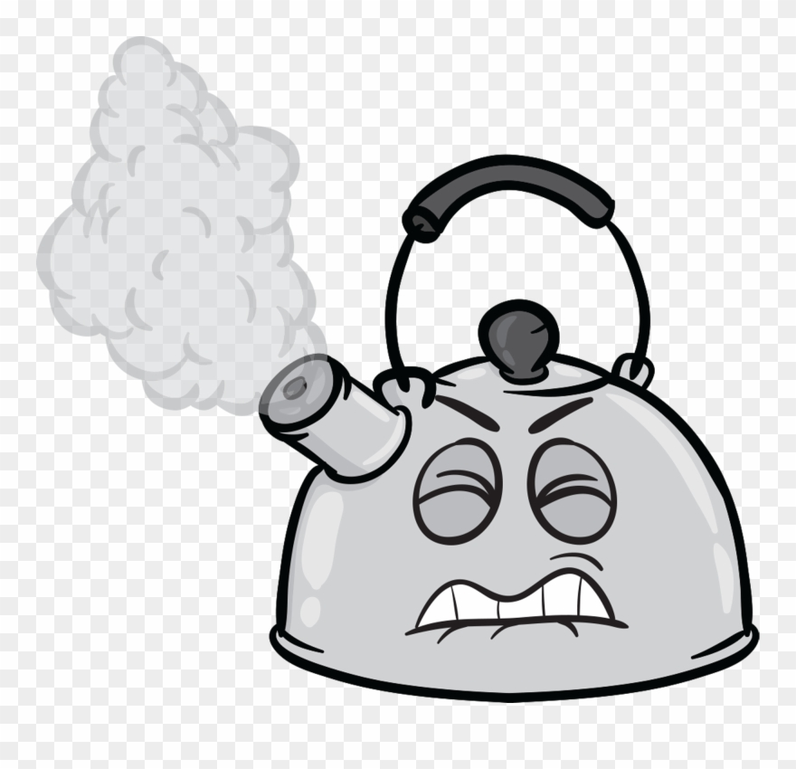 Tea kettle with steam clipart picture freeuse library Steam Clipart Tea Kettle - Kettle Emoji - Png Download ... picture freeuse library