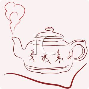 Tea kettle with steam clipart image stock Clip Art Image: A Steaming Tea Pot image stock