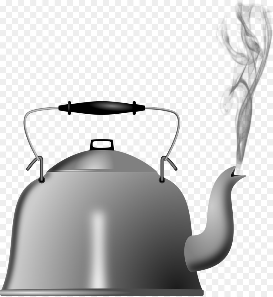 Tea kettle with steam clipart