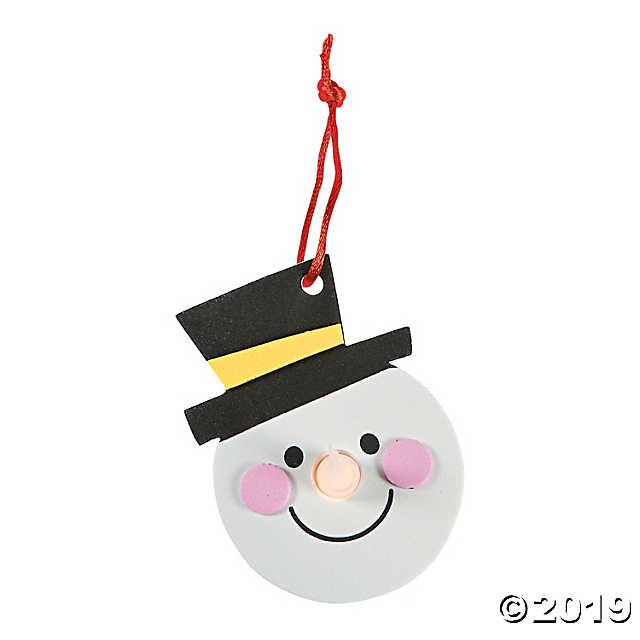 Tea light kit clipart jpg black and white stock Snowman Tea Light Ornament Craft Kit jpg black and white stock