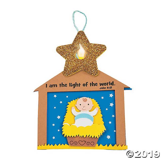 Tea light kit clipart vector royalty free stock Nativity Star Tea Light Ornament Craft Kit - Discontinued vector royalty free stock