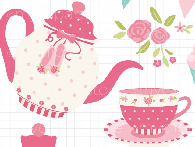 Tea party clipart graphic black and white download Free Tea Party Cliparts, Download Free Clip Art, Free Clip ... graphic black and white download