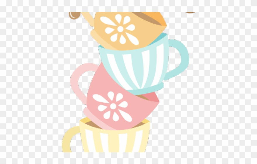 Tea party clipart jpg black and white stock Tea Party Clipart Children\'s - Tea Cups Clipart Png ... jpg black and white stock
