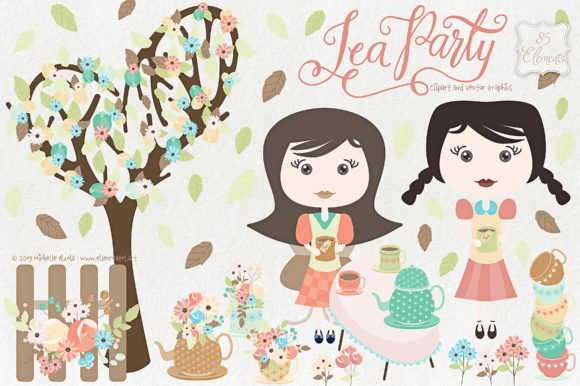 Tea party clipart clip royalty free download Tea Party Clipart and Vector Graphics clip royalty free download