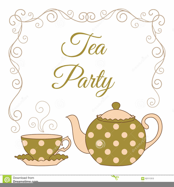 Tea party pictures clipart clip free Clipart Tea Party Invitation | Free Images at Clker.com ... clip free
