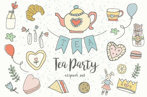 Tea party pictures clipart clipart black and white stock Tea party clipart 4 » Clipart Portal clipart black and white stock