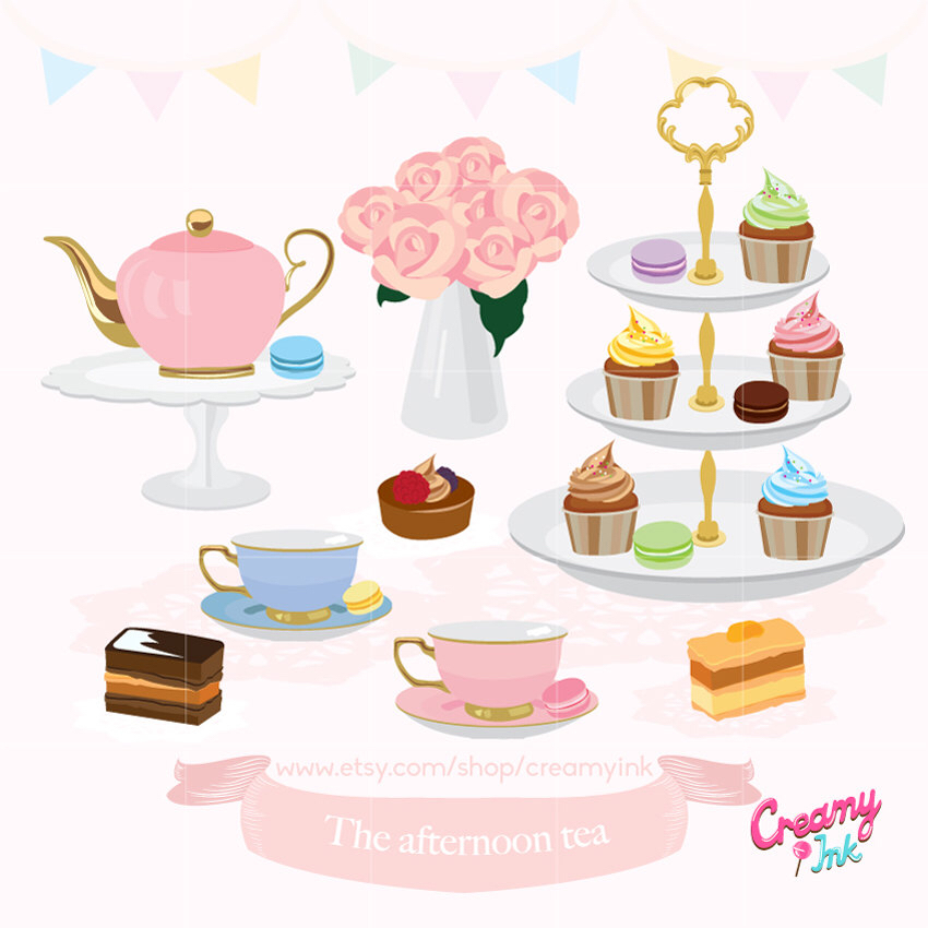 Tea party pictures clipart royalty free download Afternoon tea party clipart 3 » Clipart Station royalty free download