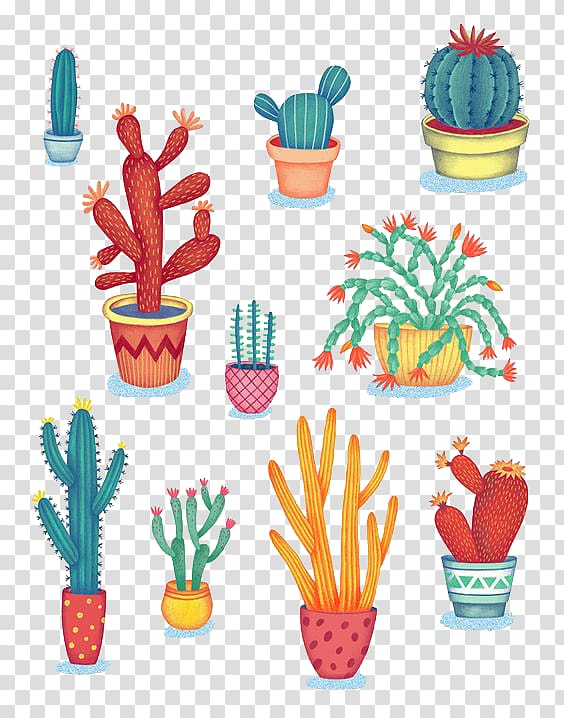 Tea pot with succulent clipart banner freeuse stock Cactus illustrations, Cactaceae Succulent plant Drawing ... banner freeuse stock