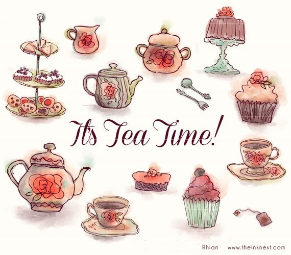 Tea time pictures clipart clipart freeuse download Afternoon tea party clipart 1 » Clipart Portal clipart freeuse download