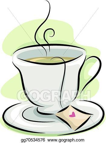 Tea vector clipart clipart royalty free stock EPS Illustration - Cup of tea. Vector Clipart gg70534576 ... clipart royalty free stock