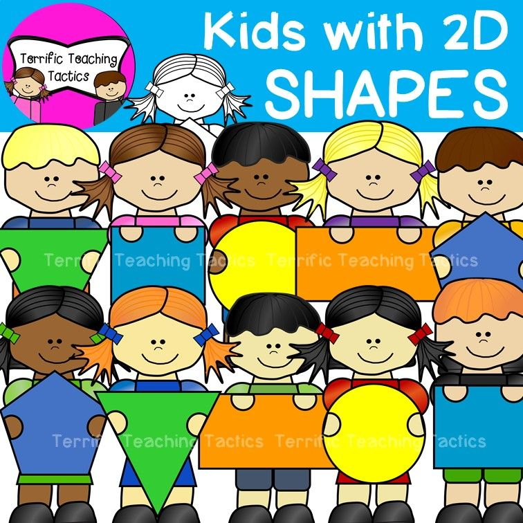 Teach this clipart banner freeuse stock Kids with 2D Shapes Clip Art | My Clip Art | Shapes for kids ... banner freeuse stock