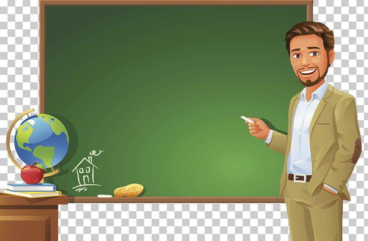 Teacher at chalkboard clipart clipart free stock Teacher Blackboard Student PNG, Clipart, Attend Class ... clipart free stock