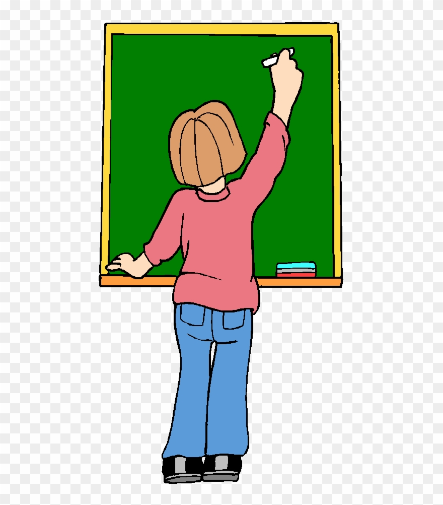Teacher at chalkboard clipart png free stock Clean The Blackboard Clipart Blackboard Learn Teacher ... png free stock