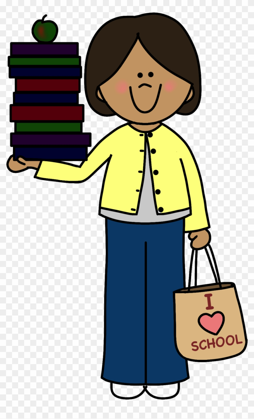Teacher books clipart image Human Body Clipart At Getdrawings - Teacher With Books ... image