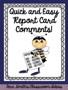 Teacher comments box clipart image black and white stock 217 Best REPORT CARD COMMENTS images in 2019   Class ... image black and white stock