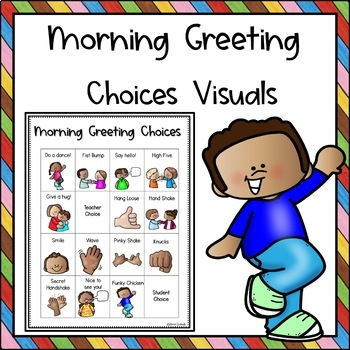 Teacher greeting students clipart clipart transparent download Morning Greeting Choices clipart transparent download