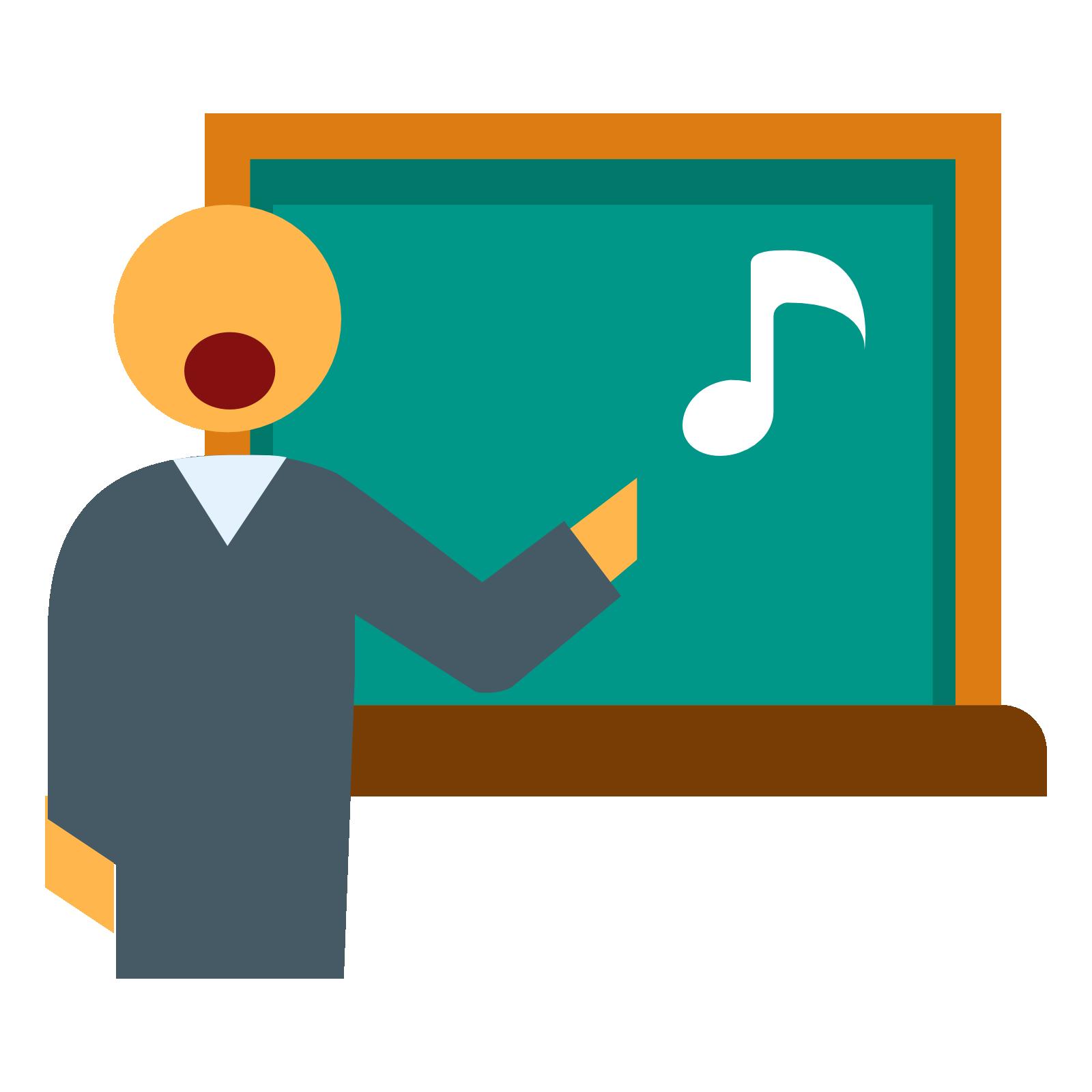 Teacher icon clipart clip free Teacher in Music Lesson Png Clipart #46712 - Free Icons and ... clip free