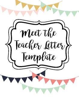 Teacher letter to student clipart clip Meet the Teacher Letter Template   For Teaching   Letter to ... clip