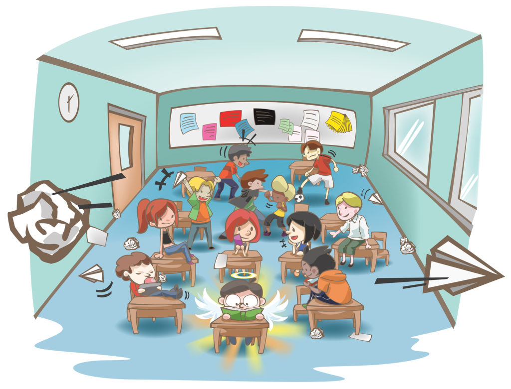 Teacher modeling a lesson clipart svg library library Managing Student Behavior | Teacher.org svg library library