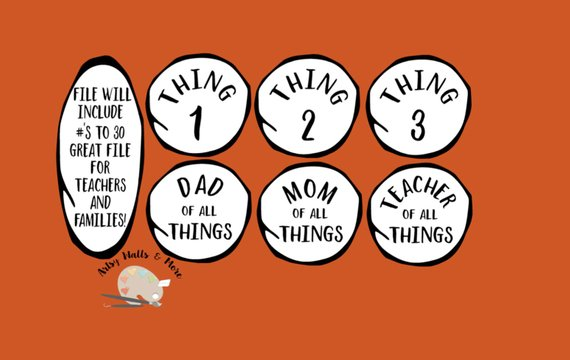 Teacher of all things dr seuss clipart vector free Svg \