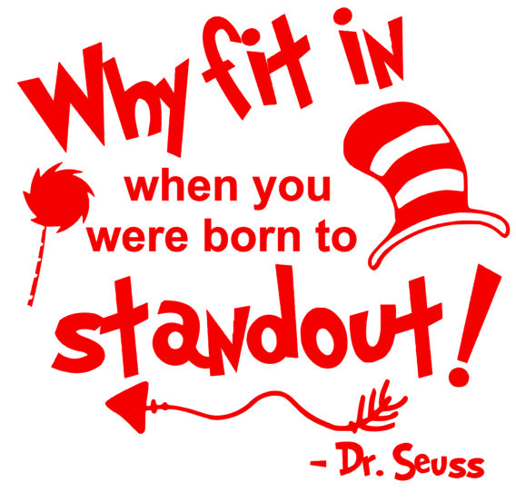 Teacher of all things dr seuss clipart clip royalty free download Dr. Seuss Why fit in Quote SVG - Back to School ... clip royalty free download