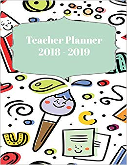 Teacher planning day clipart clipart black and white download Teacher Planner 2018 - 2019: 190 Daily Lesson Plans for ... clipart black and white download
