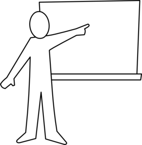 Teacher pointing at board clipart clipart freeuse stock Teacher Pointing At Board Outline Clip Art at Clker.com ... clipart freeuse stock