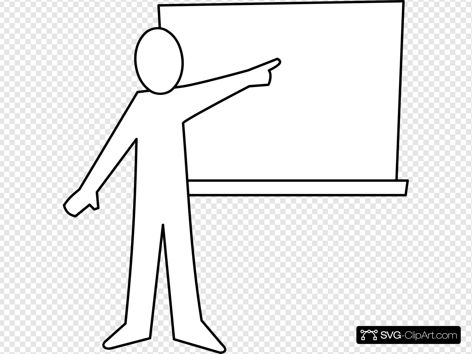 Teacher pointing at board clipart image transparent Teacher Pointing At Board Outline Clip art, Icon and SVG ... image transparent