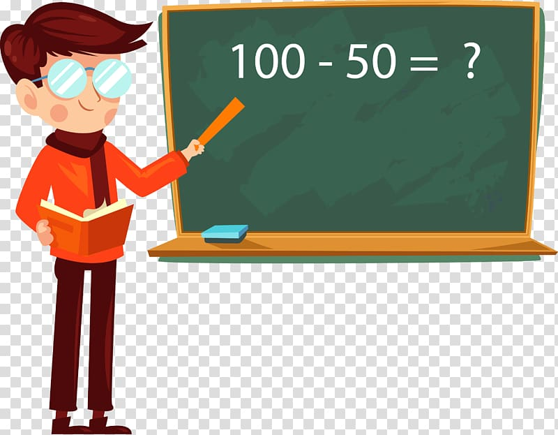 Teacher pointing at board clipart graphic black and white Man pointing math problem on board , Student Teachers Day ... graphic black and white