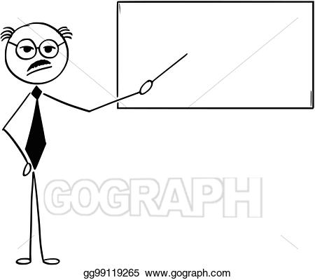 Teacher pointing at board clipart clip art library Vector Art - Cartoon illustration of old business man or ... clip art library