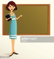 Teacher pointing at board clipart banner black and white stock Young Teacher Pointing AT stock vectors - Clipart.me banner black and white stock