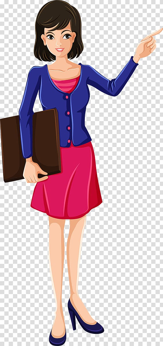 Teacher pointing clipart black and white stock Woman pointing at left side illustration, Teacher Cartoon ... black and white stock