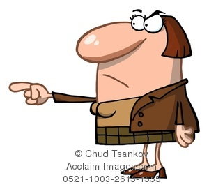 Teacher pointing clipart graphic royalty free stock Clipart Image of An Angry Teacher Pointing Her Finger graphic royalty free stock