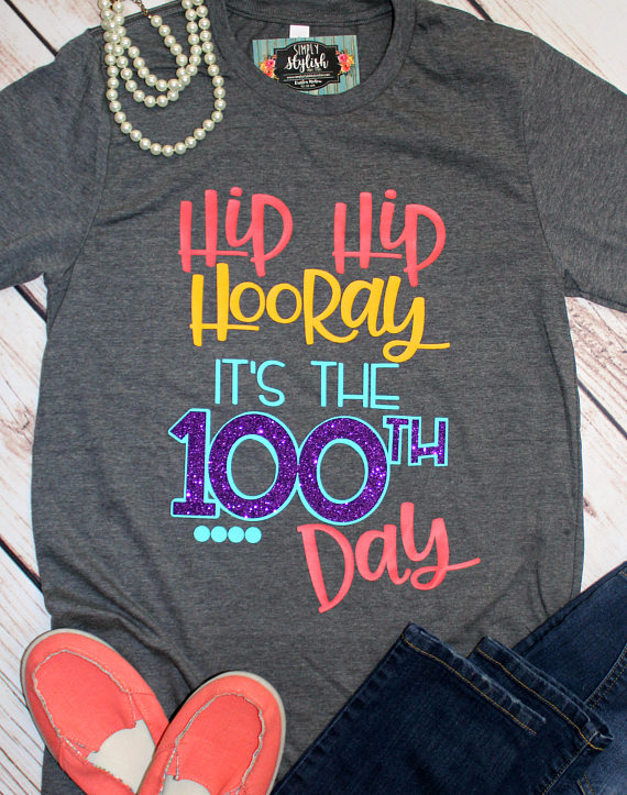 Teacher shirts love clipart clip freeuse library Happy 100th Day of School T Shirts, 100th Day Teacher Shirt ... clip freeuse library
