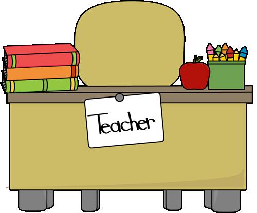 Teacher table clipart image library Teacher Clip Art Borders | Teacher\'s Desk Clip Art Image ... image library