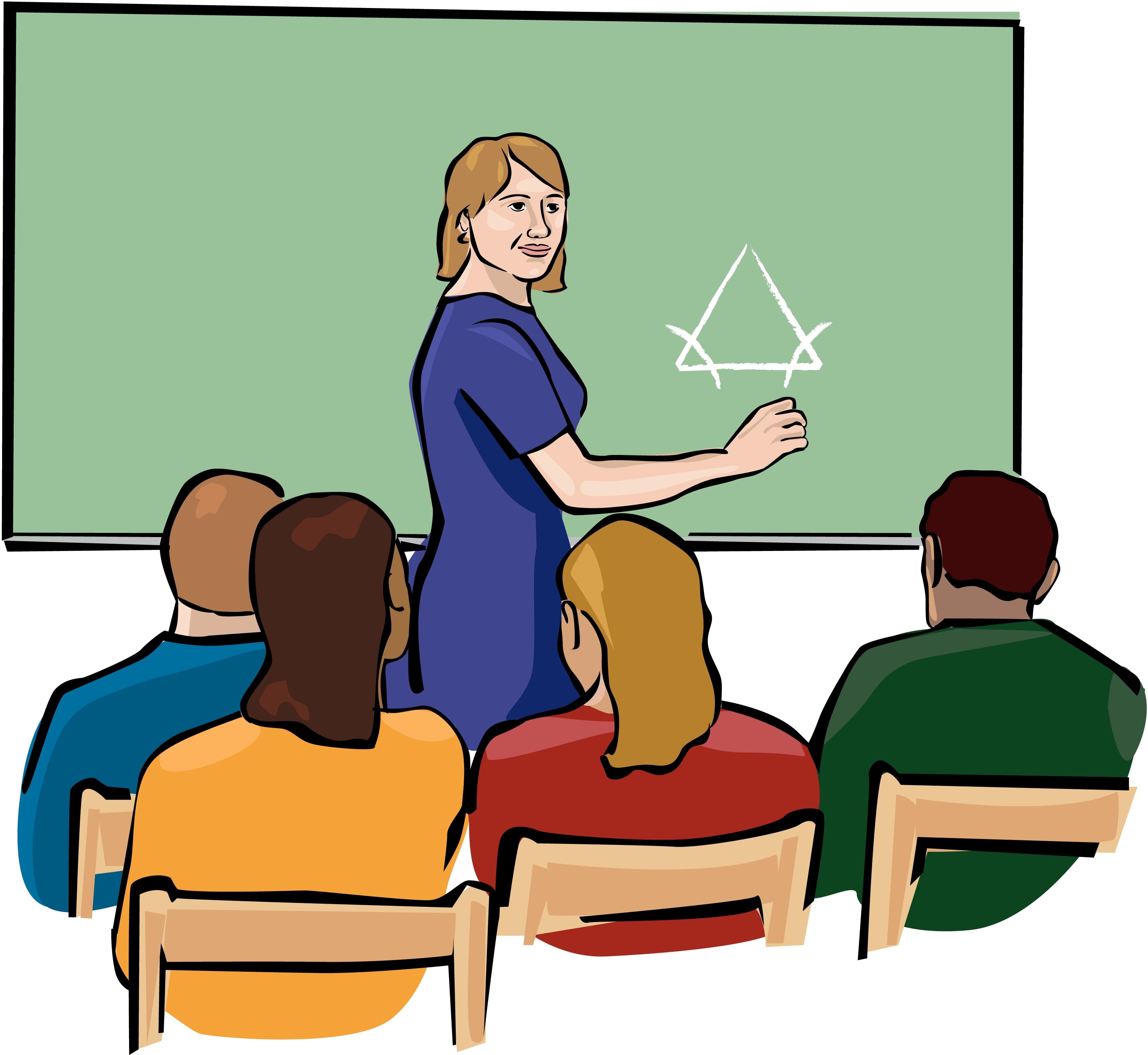 Teacher teaching students clipart vector stock Teacher Teaching Student Clip Art N10 free image vector stock