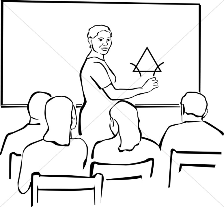 Sitting in class clipart black and white clip freeuse African American Teacher   Christian Classroom Clipart clip freeuse