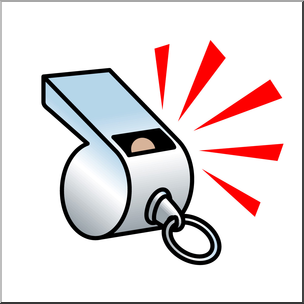 Teacher with a whistle clipart png black and white stock Clip Art: Whistle Color I abcteach.com | abcteach png black and white stock