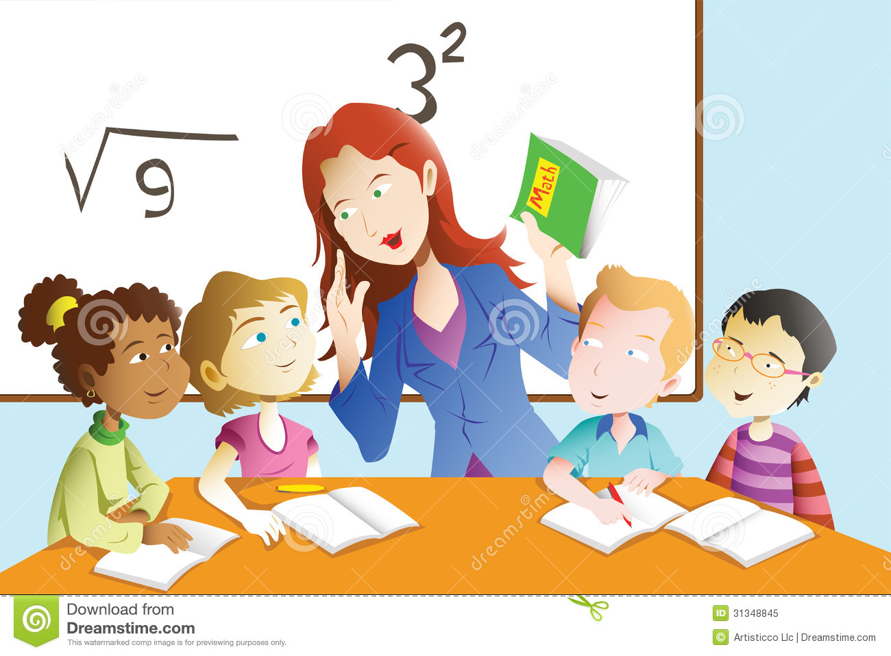 Teacher with kids clipart clipart freeuse library Teacher with kids clipart - ClipartFest clipart freeuse library