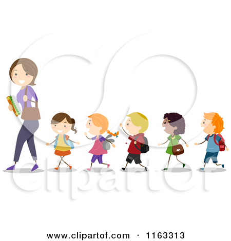 Teacher with kids clipart svg royalty free library School kids with teacher clipart cartoon - ClipartFest svg royalty free library