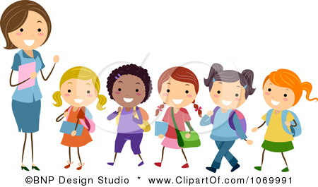 Teacher with kids clipart svg freeuse stock Teacher and kids clipart - ClipartFest svg freeuse stock