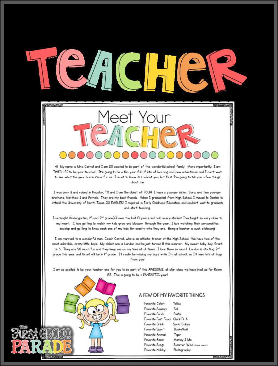 Meet your teacher clipart clip free School Line Art clipart - Letter, Teacher, School ... clip free