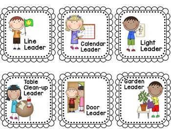 Teachers helper clipart line leader picture freeuse library CLASSROOM JOBS AND HELPERS - LEADERS IN THE CLASSROOM ... picture freeuse library